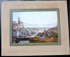 SUISSE SWISS VUE DE FRIBOURG FREIBURG  COULEURS POSTERIEURES - Prints & Engravings