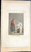 SUISSE SWISS COSTUME DU CANTON DE FREIBURG FRIBOURG  COULEURS POSTERIEURES - Estampes & Gravures