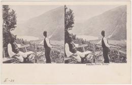 Bosna I Hercegovina - Konjic, Boracko Jezero (Stereoskopie) 1901 - Bosnien-Herzegowina