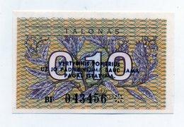 Lituania - 1991 - Banconota Da 0,10 Talonas - Nuova -  (FDC1614) - Lituania