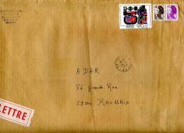 Marcophilie,timbre Tableau,peinture Dewasne Aurora-Set 1983 Sur Lettre,compl Affrachissement Liberté Gandon 0.50+0.40 - 1961-....