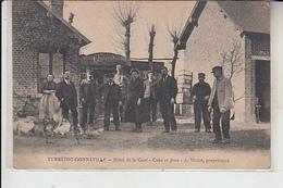 76  -  TURRETOT  - GONNEVILLE -   Hotel De La GARE -  ...A.Vivien-  Propriétaire....1922 - Otros Municipios