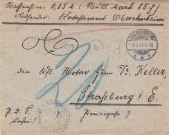 Enveloppe Contre-remboursement Sans étiquette Obl OBEREHNHEIM Du 9.11.14 - Elsass-Lothringen