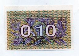 Lituania - 1991 - Banconota Da 0,10 Talonas - Nuova -  (FDC1615) - Lituanie