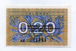 Lituania - 1991 - Banconota Da 0,20 Talonas - Nuova -  (FDC1616) - Lituania