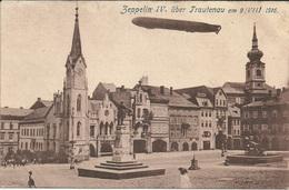 Zeppelin 1916 WWI AK Luftschiff Z IV (LZ 16) Ueber Trautenau (Trutnov)im Nordosten Tschechiens Am 09.08.1916 - Zeppeline
