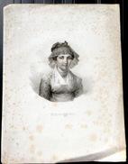 SUISSE SWISS COSTUME  FRIBOURGEOISE EN BUSTE LITHOGRAPHIE HALLER A BERNE - Estampes & Gravures