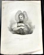SUISSE SWISS COSTUME  SUISSE LA TOILETTE CHAMPETRE  LITHOGRAPHIE HALLER A BERNE - Estampes & Gravures