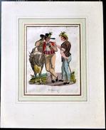 SUISSE SWISS COSTUME DE FRIBOURG FREIBRG  COLORIS POSTERIEURS - Estampes & Gravures