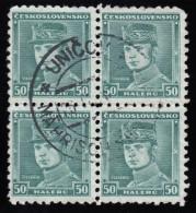 CZECHOSLOVAKIA - Scott #208 Gen. Milan Stefanik / Used Block Of 4 Stamps (bk917) - Blocks & Sheetlets
