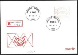 Belgio/Belgium/Belgique: Raccomandata, Registered, Recommandé - ATM - Frama (vignette)