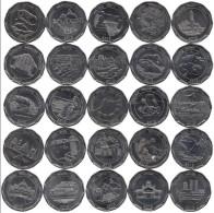 SRI LANKA 2013 SERIE COMPLETA DI 25 MONETE DA 10 RUPEES COMMEMORATIVE FDC UNC - Sri Lanka
