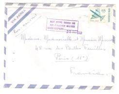 ARGENTINA, Correo Aereo / Lettre Par Avion , Sello 68 Pesos , Griffe AUX BONS SOINS De AIR FRANCE MERCI , 1969 > Paris - Posta Aerea
