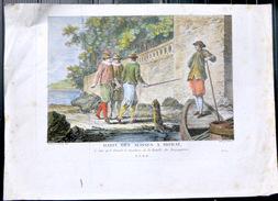 SUISSE SWISS  COSTUME HABIT DES SUISSES A MORAT  LE JOUR DU SIMULACRE DE LA BATAILLE BOUGUIGNONNE  COLORIS POSTERIEURS - Estampes & Gravures