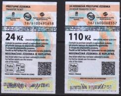 Czech Republic. Prague 2016  2 Tickets Tram - Tramways