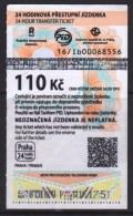 Czech Republic. Prague 2016 1 Ticket Tram - Tramways