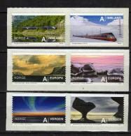 Norway 2009 Tourism - Self-Adhesive,trains.MNH - Norwegen