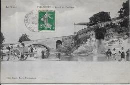 CPA TARN Circulé PUYLAURENS Laveuses Lavandières Métier Attelage - Puylaurens