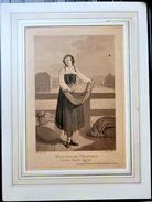 SUISSE SWISS  COSTUMES VIEUX METIERS  MARCHANDE D'OEUFS WENTHALER MAEDCHEN CANTON DE ZURICH  PFENINGER GRAVEUR VERS 1900 - Estampes & Gravures