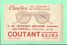 BUVARD: 21 X 13,5  Opticien Coutant à Reims - O