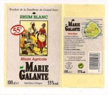 Etiquette  RHUM Agricole  55% -Distillerie De Grand´Anse, Grand Bourg De  Marie Galante  - GUADELOUPE - - Rhum