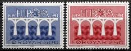 Faroe Islands  1984 EUROPA  MiNr.97-98  MNH (**)   ( Lot  1682 ) - Faroe Islands
