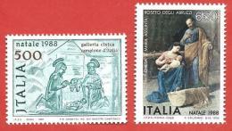 ITALIA REPUBBLICA MNH - 1988 - NATALE - Natività E Sacra Famiglia - £ 500 + 650 - S. 1851 + 1853 - 6. 1946-.. Repubblica