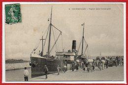 14 - COURSEULLES -- Vapeur Dans L'avant Port - Courseulles-sur-Mer