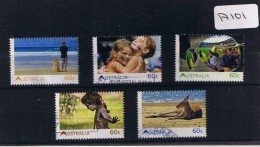 Australia 2011  Beach 5val Sheet  F/used A101 - 2010-... Elizabeth II