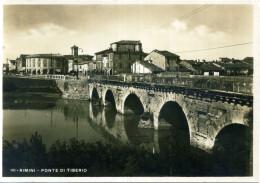 1937 CART. VIAGGIATA RIMINI PONTE DI TIBERIO - Rimini