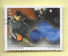 TIMBRES - STAMPS - PORTUGAL - 1998 - 250 ANS DE L'INDUSTRIE EN VERRE MARINHA GRANDE - TIMBRE OBLITÉRÉ CLÔTURE DE SÉRIE - Portugal