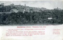 1910 CART. VIAGGIATA MONTALCINO (SIENA) - PANORAMA DELLA CITTA' - Italia