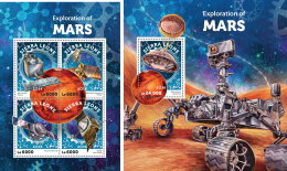 SIERRA LEONE 2016 ** Explorations Of Mars Erforschung Des Mars M/S+S/S - OFFICIAL ISSUE - A1628 - Space