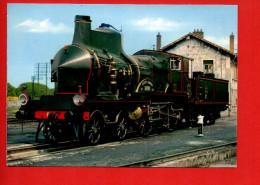 """Train - Chemin De Fer - Locomotive """"Coupe Vent"""" C-145 PLM (1900)(Photo M. Lamarche) - Trains"""