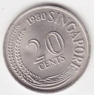 @Y@   Singapore   20 Cents  1980       (3795)   Unc - Singapore