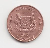 @Y@   Singapore   1  Cents  1993       (3797)   Unc - Singapore