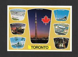 TORONTO - ONTARIO - CANADA'S QUEEN CITY - C.N. TOWER - AIRPORT - CITY HALL - ONTARIO PLACE - EXPRESSWAY - SKYLINE - Toronto