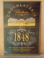 """- Plaque En Tôle """"CHOCOLATERIE POULAIN"""" - - Plaques En Tôle (après 1960)"""