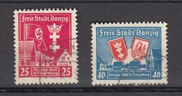 Danzig 1937,2V,Mi 274-275,Danziger Dorf,Used,Gestempelt(D2382) - Danzig