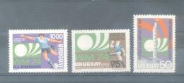CAMPEONATO MUNDIAL DE FUTBOL ALEMANIA 1974 - SERIE COMPLETA YVERT NRS. 880-882 MNH FUTEBOL FOOTBALL BALOMPIE - Coppa Del Mondo