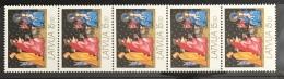 Latvia 1992 MNH - Christmas 15r , 5 Stamps Strip - Lettonia