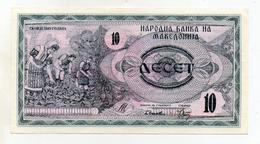 Macedonia - 1992 - Banconota Da 10 Denari - Nuova -  (FDC1627) - Macedonia