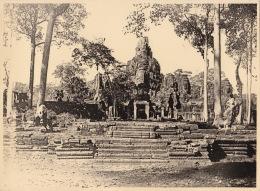 Grande Photo De 1924 Cambodge Hangkor - Lieux