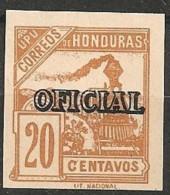 Timbres - Amérique - Honduras - 1898 - OFICIAL - 20 Centavos - Neuf Sans Trace De Charnière - - Honduras