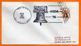 USA  CLOCHES  ASDA  1976  Lettre Entière N° BB 829 - Etats-Unis