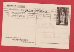 Entier Postal  --  Mémorial Américain De Montfaucon --obl