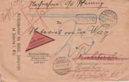 Enveloppe Contre-remboursement Avec étiquette Rouge Obl ZABERN Du 20.7.18 - Elsass-Lothringen
