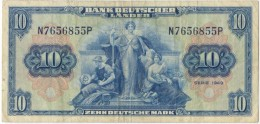 Germany 10 Mark 1949 AXF - [ 7] 1949-… : FRG - Fed. Rep. Of Germany