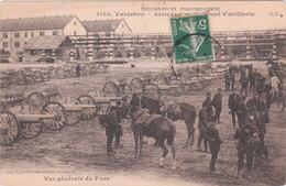 Carte Postale Ancienne - Militaires - Valdahon - Arrivée D'un Régiment D'Artillerie - Materiale