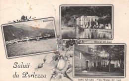 Porlezza Litho Panorama Albergo Del Lago Crotto Gabriella Gl1921 #165.196 - Sin Clasificación